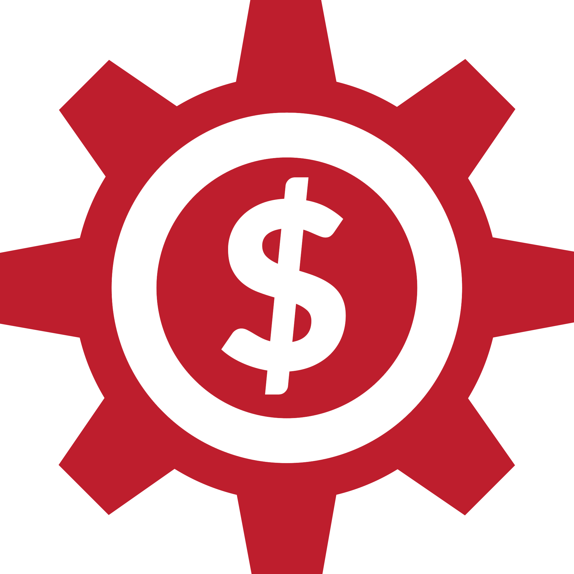 gear with dollar sign in center